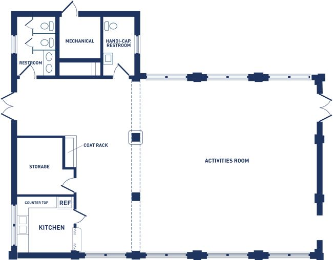 Sligo dennis avenue park activity building floor plan for Banquet hall floor plan