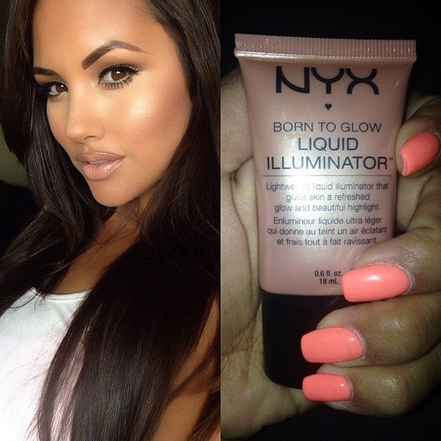 Liquid illuminator in Gleam✨ @NYX Cosmetics @NYX Cosmetics #glow #glowingskin I apply mine with a beauty blender! Works like a charm.