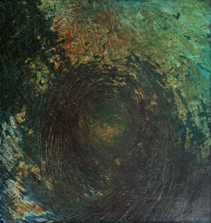 Jesienna głębią 60x60  Olej