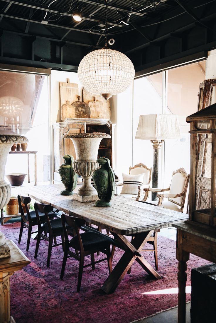 Our Custom Farmhouse Style Table, Made With Reclaimed Materials. Antiques  And Custom Home Decor