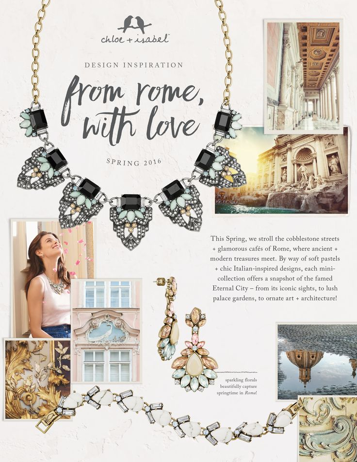 Discover the inspiration behind our Spring 2016 collection, From Rome, With Love! Shop HERE https://www.chloeandisabel.com/boutique/cherrycheekchic