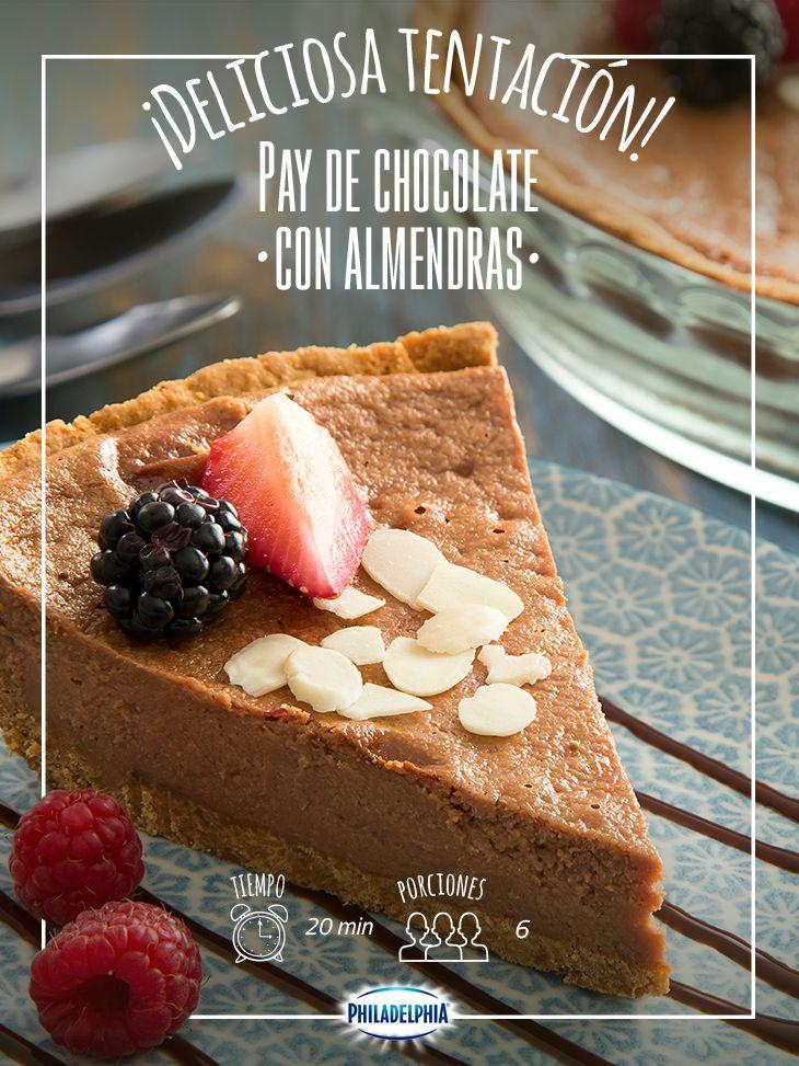 Inicia la semana con un postre encantador: Pay de chocolate con almendras, ¿se te antojó?