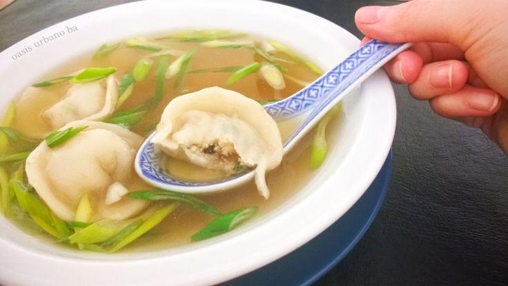 Oasis Urbano BA, Sopa de mandu con caldo de shiitake 02