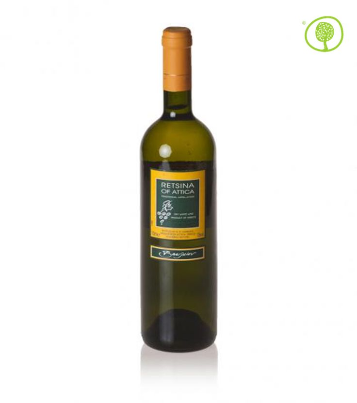 """Retsina of Attica Vasileiou: the """"resin"""" aroma at peace with Greek summertime appetizers.  One click gets it to your door. http://bit.ly/greekretsina"""