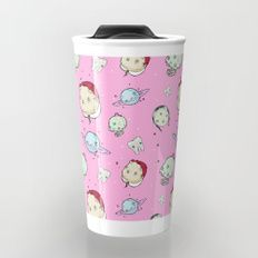 Creepy Pink Pattern Travel Mug