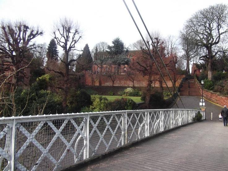 Suspension Bridge over the Dee.