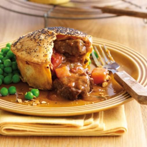 Chunky beef and onion pies