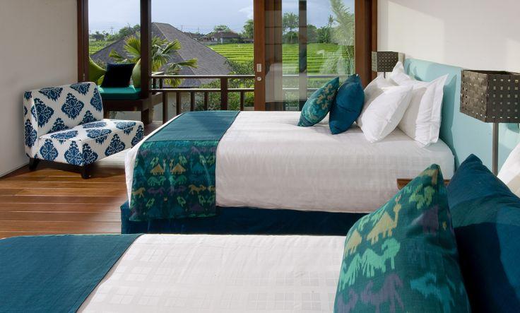 Twin bedroom Bendega Nui Bali http://prestigebalivillas.com/bali_villas/bendega_nui/23/map/