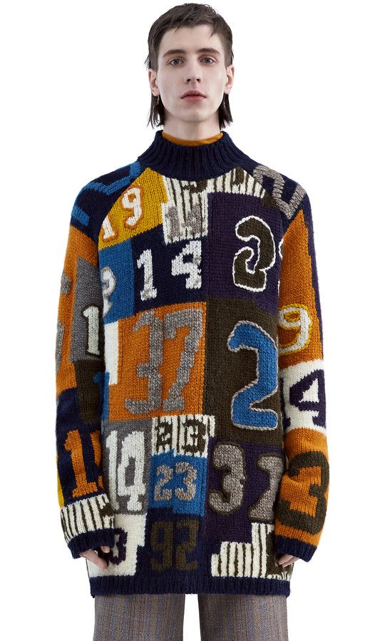 Jerett numbers multi jacquard - Knitwear