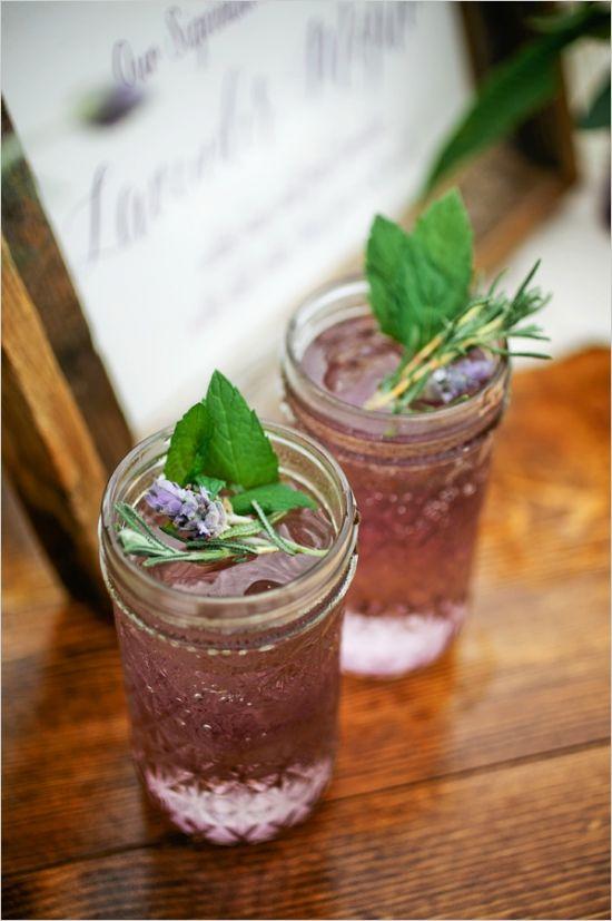 lavender mojitos #lavenderwedding #purplewedding #weddingchicks http://www.weddingchicks.com/2014/01/01/lavender-wedding-2/