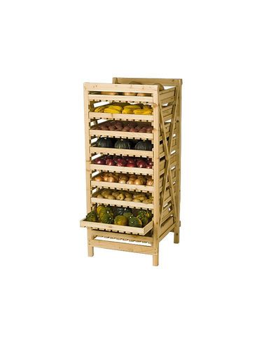 6-Drawer Vegetable Storage Rack is a Time-Tested Way to Store Your Harvest                                                                                                                                                                                 Plus