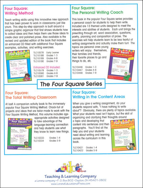 Four Square Writing Method Grades 4-6 | Additional photo (inside page)