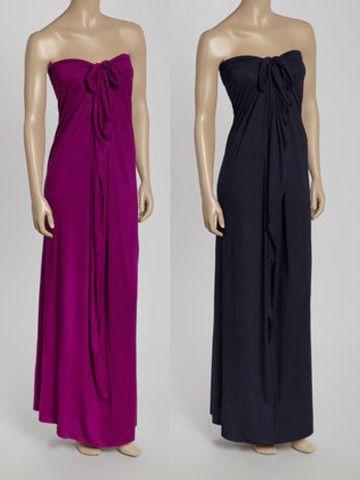 Maxi Convertible Dress | HIPKNOTIES | Convertible Wrap Dress- Multi Way Dress | HipKnoTies