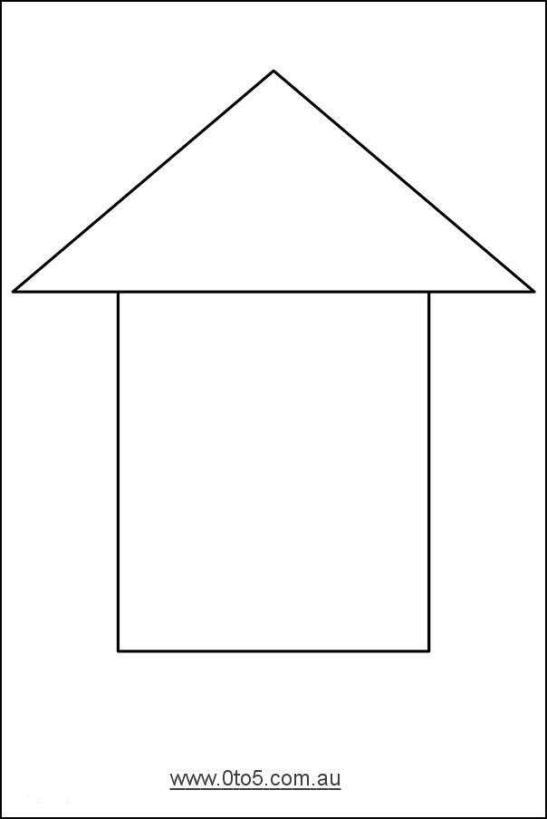 It's just a photo of Irresistible Printable House Template