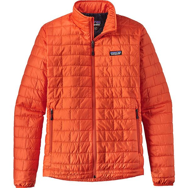 Patagonia Mens Nano Puff Jacket - M - Paintbrush Red - Outerwear ($199) ❤ liked on Polyvore featuring men's fashion, men's clothing, men's outerwear, men's jackets, red, mens insulated jackets, mens lightweight puffer jacket, mens red jacket and mens faux leather jacket
