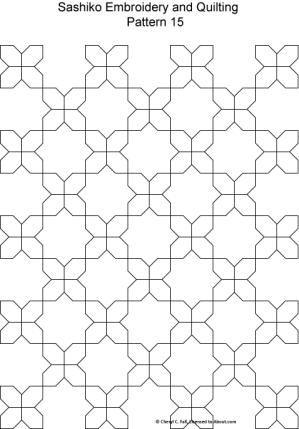 Sashiko Pattern 12: Sashiko Pattern 15