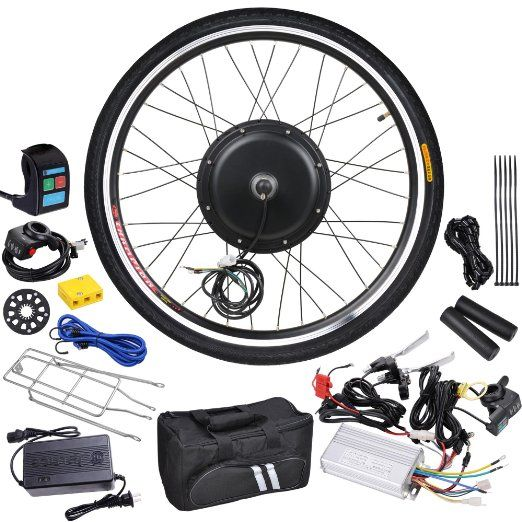 "AW 26"" Front Wheel 48V 1000W 470RPM Electric Bicycle Hub Motor Speed Control Conversion Kit PAS System"