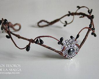 Woodland elf tiara elven headpiece fairy crown by Ayalga on Etsy