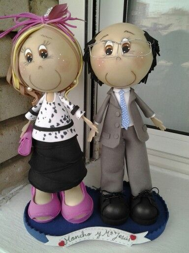 Pareja de fofuchos personalizados de boda