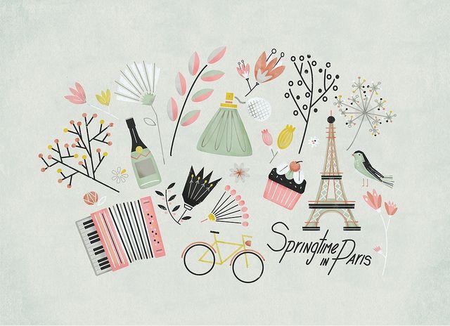 Springtime in Paris, Victoria Fernandez: Photos, Flickr, Paris, Inspiration, Victoriafernandez, Illustrations, Art, Springtime