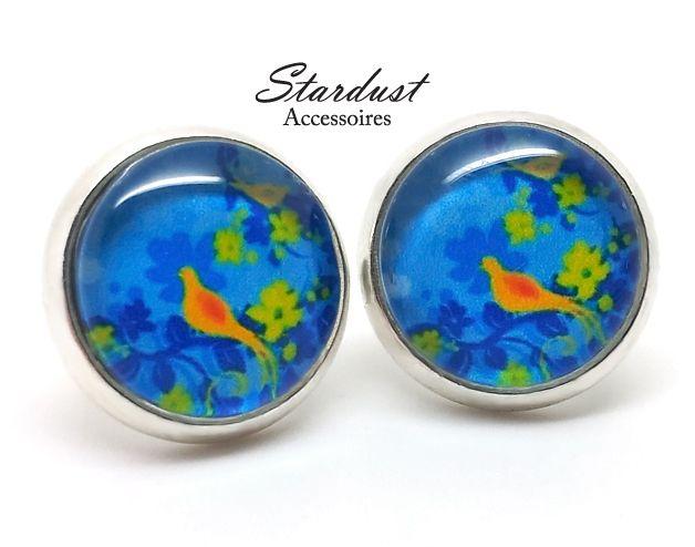 Ohrstecker - Ohrstecker silber ✿ Paradiesvogel blau ✿ - ein Designerstück von StardustAccessoires bei DaWanda