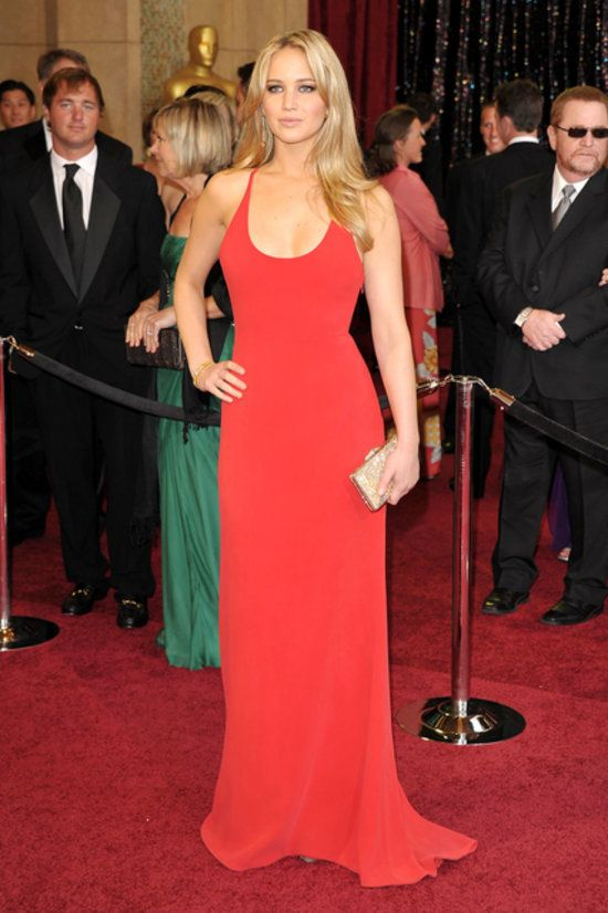 Jennifer Lawrence's red carpet dress.