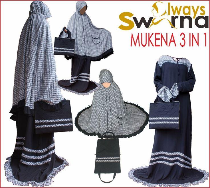 MUKENA ALWAYS SWARNA BAHAN RAYON CORAK