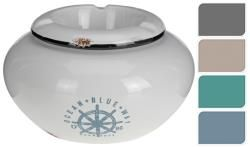 Ashtray ceramic Antique finish, sailor decal, 4asst. color, 13,5x5,5cm