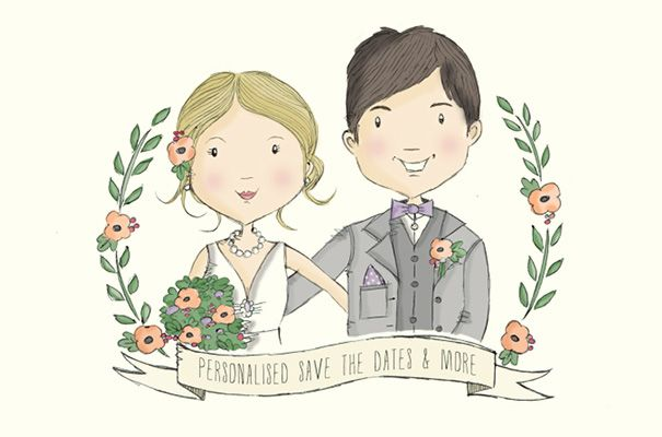etsy-custom-couple-illustration-wedding-invitation-save-the-date