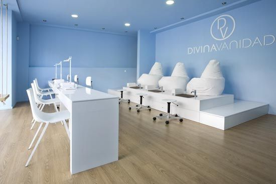 Pedicure salon interior