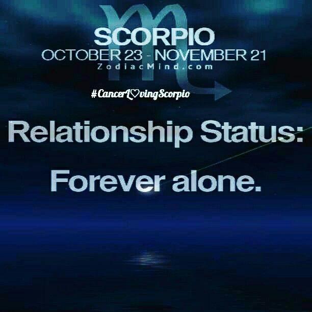 Scorpio woman single forever