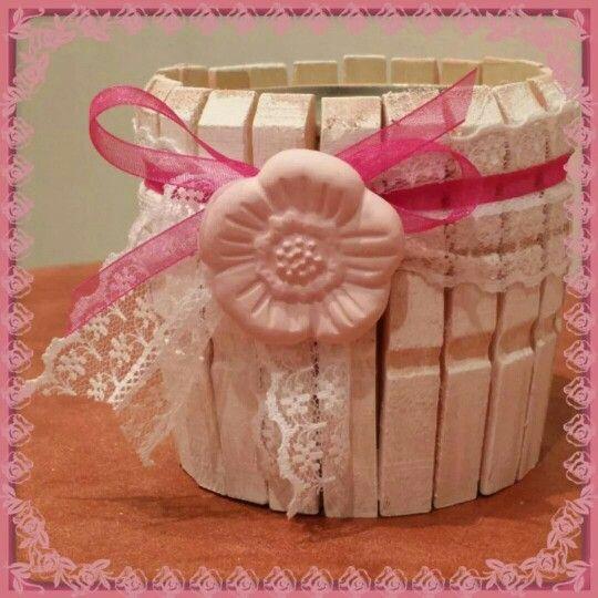 Portapenne romantico rosa