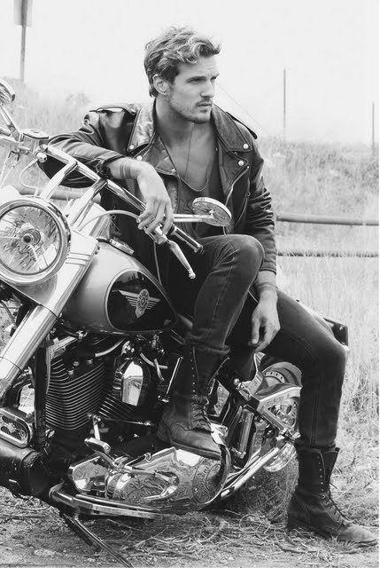 Parker Hurley & a motorcycle. Yummy!