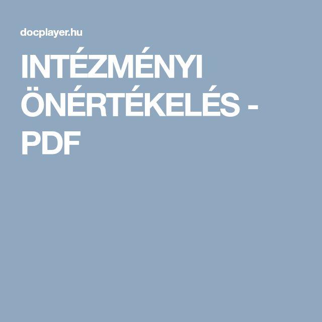 INTÉZMÉNYI ÖNÉRTÉKELÉS - PDF