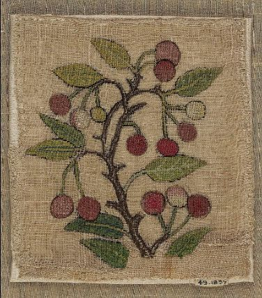 Embroidery. England, late 16th to early 17th century. Linen with silk embroidery. From the MFA Boston: 49.1897