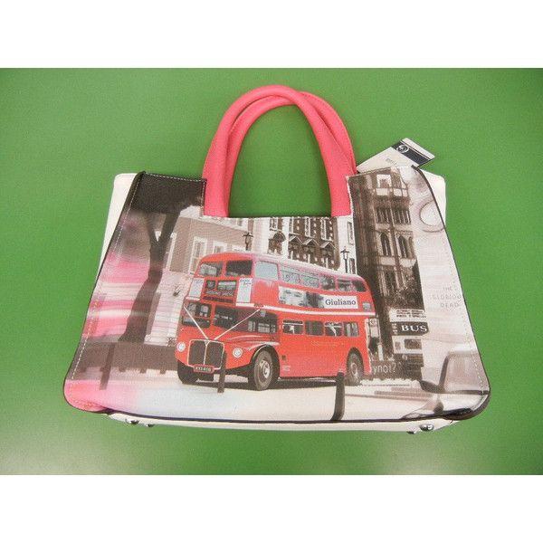 Giuliano MINI BAG ミニの車のプリントバッグ ユニオンジャック柄 かわいいバッグ トートバッグ ロンドンバス