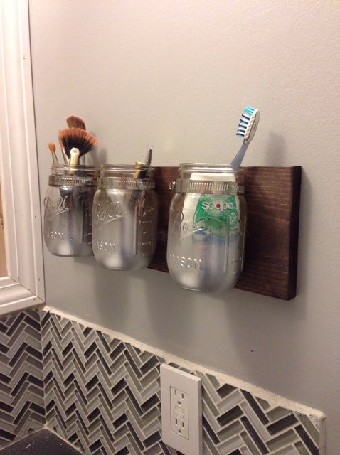How To Build A Mason Jar Wall Caddy Recipe Jars Mason