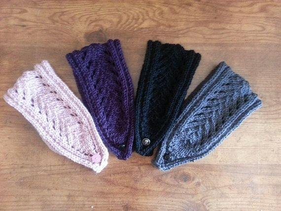 Leaf Lace Knit Headband Pattern PDF