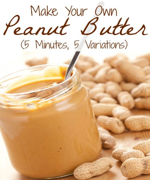 How To Make Your Own Peanut Butter (5 Minutes, 5 Variations) | http://homestead-and-survival.com/how-to-make-your-own-peanut-butter-5-minutes-5-variations/  | Now is the time to answer the age-old question: Smooth or Chunky?