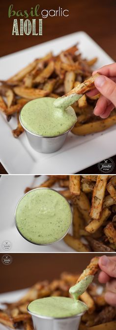 Minus the lemon juice- Making homemade Basil Garlic Aioli from scratch only takes a few minutes and the result is a flavorful dip or spread that packs a real raw garlic punch.