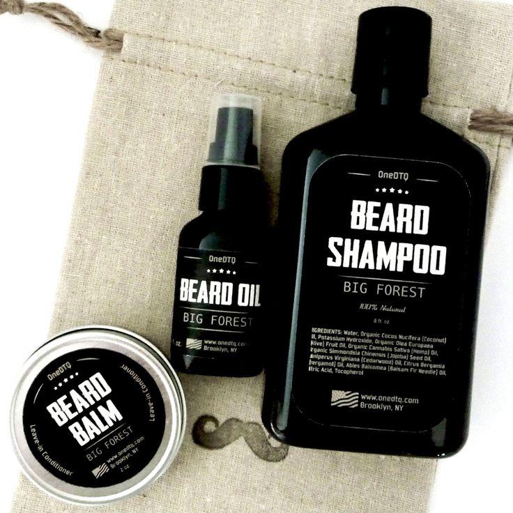 Big Forest Beard Care Kit: Beard Shampoo 9.5 FL OZ , Beard oil 1 FL OZ &…