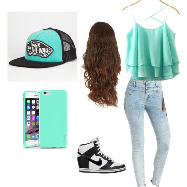 Untitled #62 by valentinazamora on Polyvore featuring polyvore fashion style Charlotte Russe NIKE Vans Insten