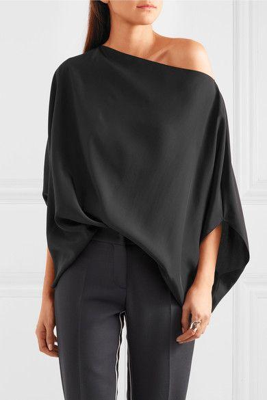 Jil Sander | Oversized silk top | NET-A-PORTER.COM