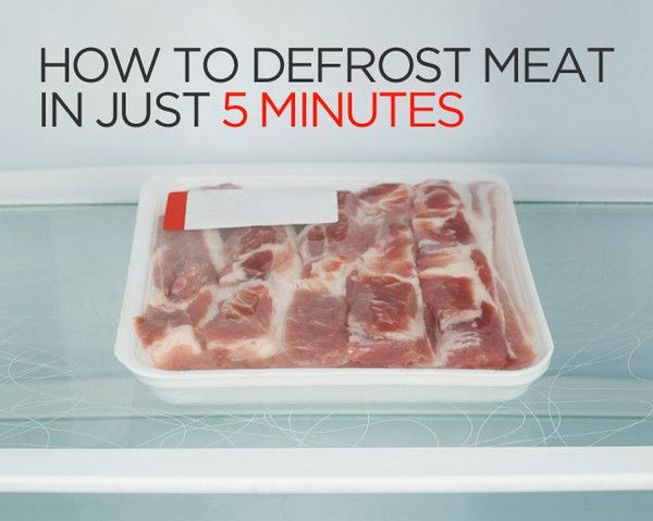 How to defrost meat in just 5 minutes health magazine magazines and health - Defrost chicken safe way ...