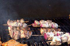 grilled lamb kebabs + tzatziki