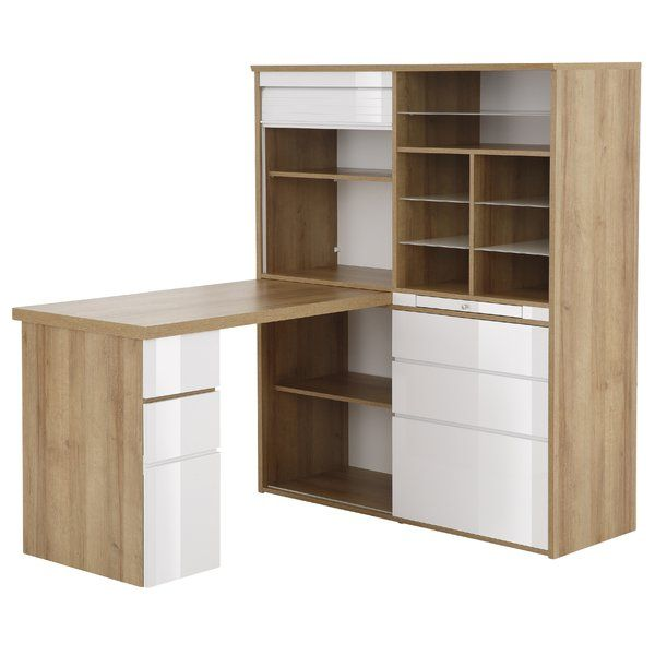 Mcconnell L Shape Writing Desk Computer Desks For Home Writing Desk With Drawers Home Office Uk