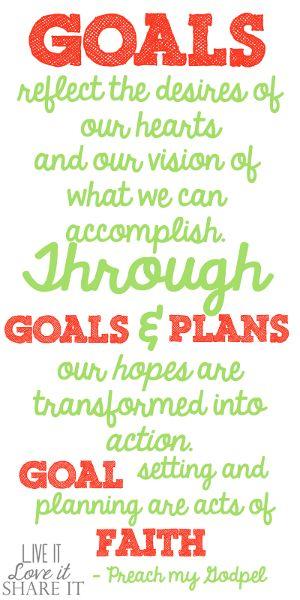 Goals reflect the desires of our hearts... #LiveitLoveitShareit
