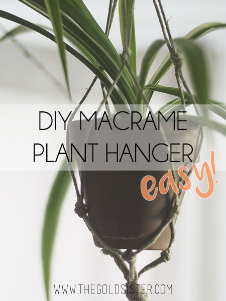 An easy DIY macrame plant hanger you can make in 20 minutes to liven up your space with your plants! Click through to read >>
