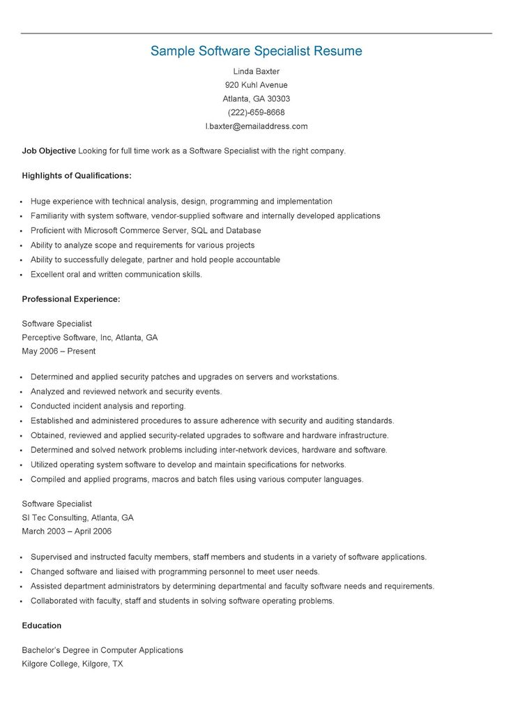 235 best resame images on Pinterest Website, Sample resume and - example of a server resume