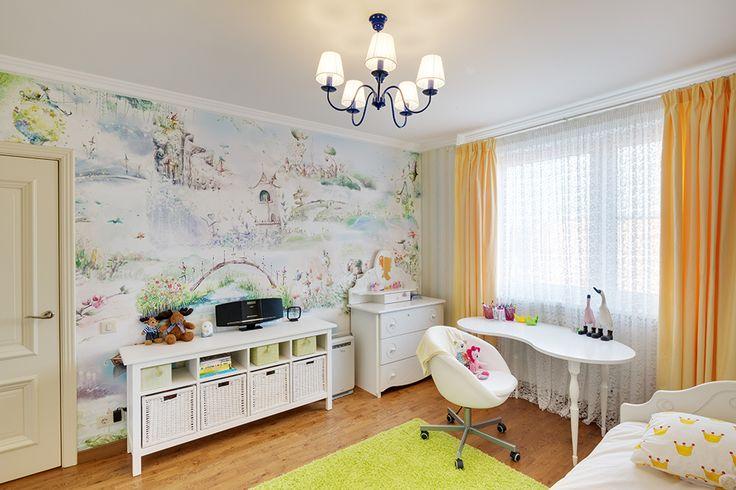 Детская комната. Лимонно-мятная цветовая гамма. Бюро интерьерного дизайна Порядок Вещей